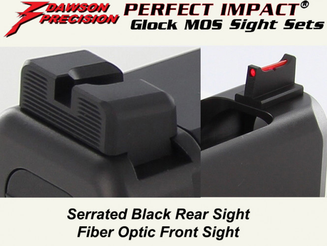 Dawson Glock MOS Sight Combo, BLK/FO