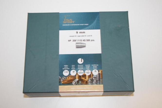 H&N 9mm, HP 356/115 HS 500pcs