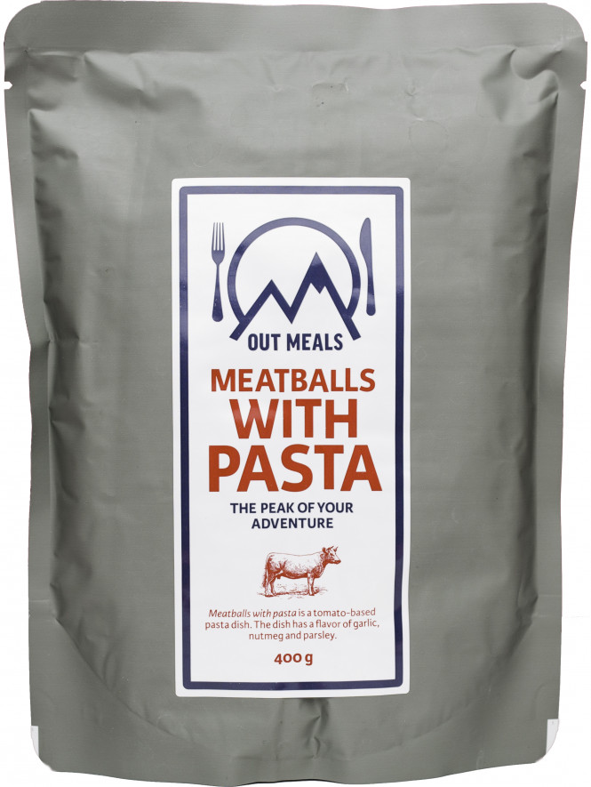 Outmeals, Meatballs with Pasta