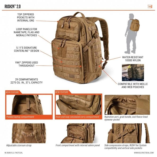 5.11 Rush24 2.0 Backpack