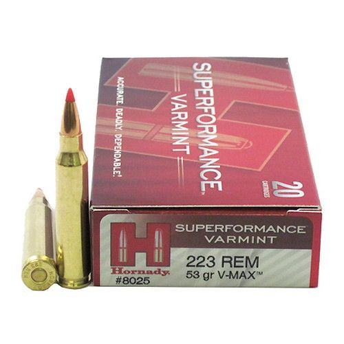 Hornady .223 Super Performance 53gr V-Max