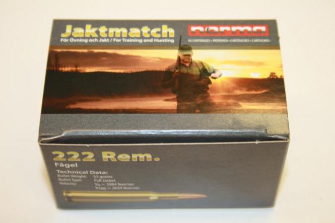 Norma Jaktmatch 222 Rem.