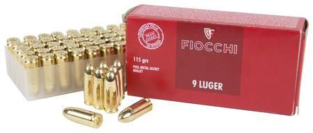 Fiocchi 9x19 FMJ 115gr