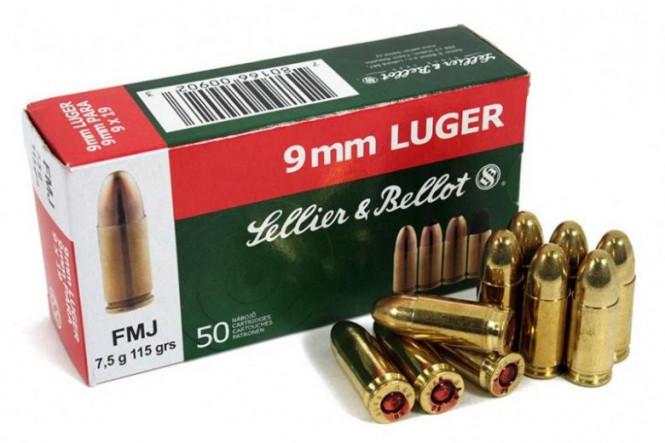 Sellier & Bellot 9mm 115gr FMJ