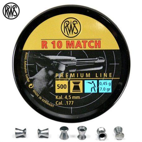 RWS R10 Match 4,5mm 0,45g 500pcs 4,49mm