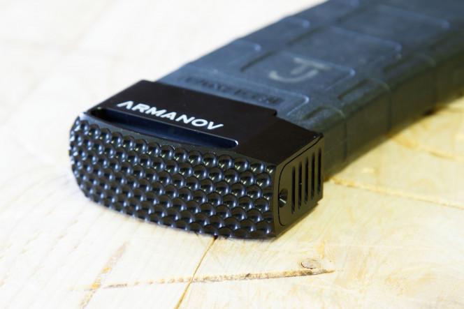 Armanov Spider Line +5 Rnd BasePad for AR-15 Pmag Blk