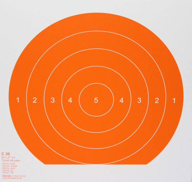 C30 orange, papp
