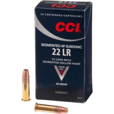 CCI .22lr Subsonic Segmented HP