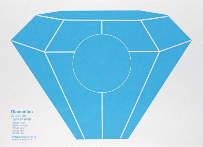 Diamanten blå, 30 x 21cm