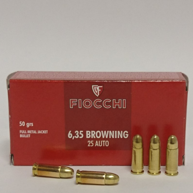 Fiocchi 6.35 Browning 50gr FMJ