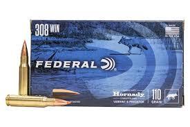 Federal .308win 110gr V-Max