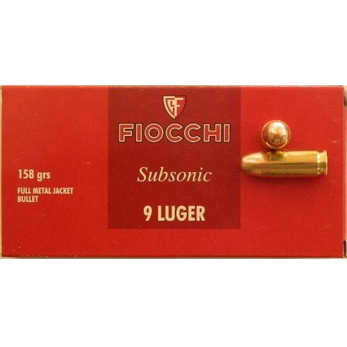Fiocchi 9x19 FMJ 158gr Subsonic