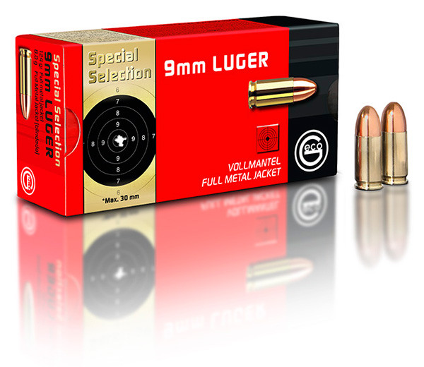 Geco 9mm 124gr FMJ SpecSel