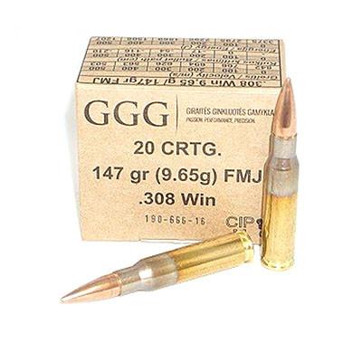 GGG .308 WIN - 147gr FMJ