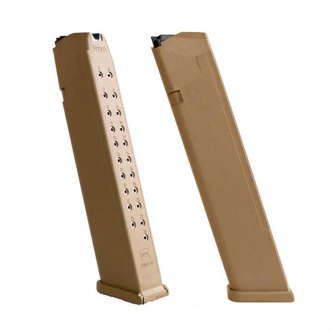 Magasin Glock Longstick 24rd Tan