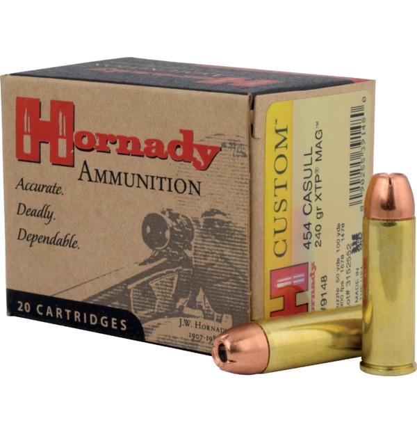 Hornady 454 Casull 240gr XTP