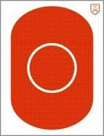 H-J A-Oval 3 39cm röd, papp