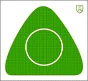 H-J B Triangel 2 26cm grön, papp