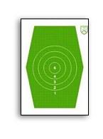 H-J Sexkant 1, 32cm hög grön, papp