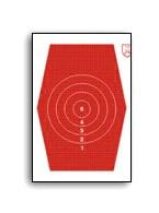 H-J Sexkant 1, 32cm hög röd, papp