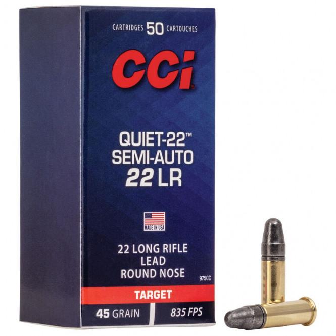 CCI .22lr Quiet Semi-Auto 45gr 835fps