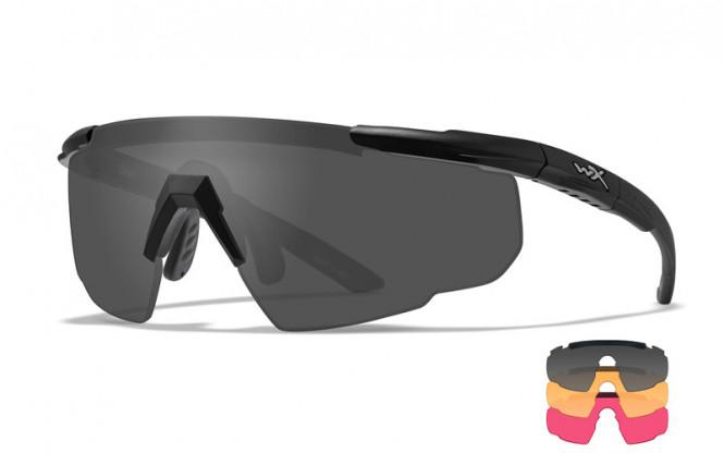 WileyX Saber Three Lens Smoke/LightRust/Vermillion