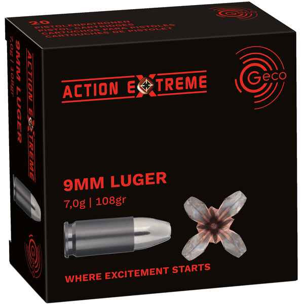 Geco 9mm Action Extreme - 20st