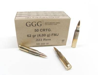 GGG .223rem 62gr FMJ